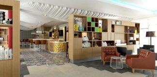 Open Lobby des neuen Holiday Inn Düsseldorf