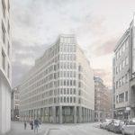 So soll das künftige Burstah Ensemble in Hamburg aussehen; Bild: Commerz Real