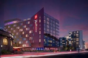 Visualisierung des neuen Radisson Red Glasgow. Bild: Carlson Rezidor Hotel Group