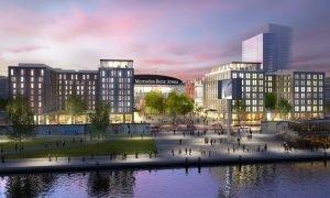 Visualisierung Mercedes Platz Berlin. Foto: Hilton Worldwide