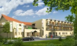 Visualisierung Carehotel Niddasee. Bild: Hopag Hotel Property AG