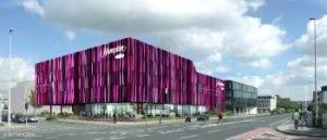 Visualisierung des Hampton by Hilton Aachen. Bild: Benthem Crouwel