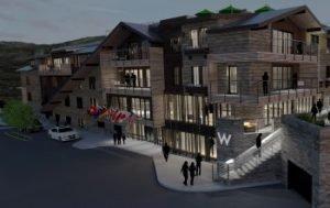 Rendering - W-Aspen Außenansicht. Bild: Starwood Hotels & Resorts