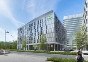 Rendering Holiday Inn in Frankfurt Gateway Gardens. Bild: Holiday Inn