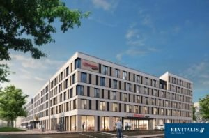 Hampton by Hilton Freiburg. Bild: Revitalis Real Estate AG/cube viz