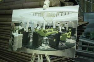 So soll die Lobby des Sofitel Frankfurt Opera aussehen. Bild: M.Glaß/hotelbau