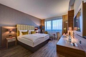 So sehen die Zimmer des Hotels aus. Bild: Bonn Marriott World Conference Hotel
