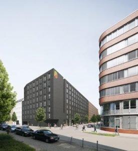 So sieht das Rendering des Super 8 in der Eiffestraße in Hamburg aus.