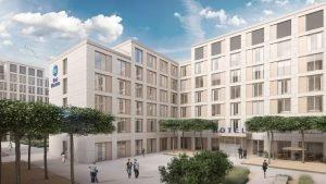 Das Best Western Hotel im Quartier Verso in Wiesbaden. Bild: OFB Projektentwicklung GmbH