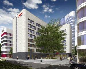 Rendering des Gebäudes. Bild: Groß & Partner/OFB