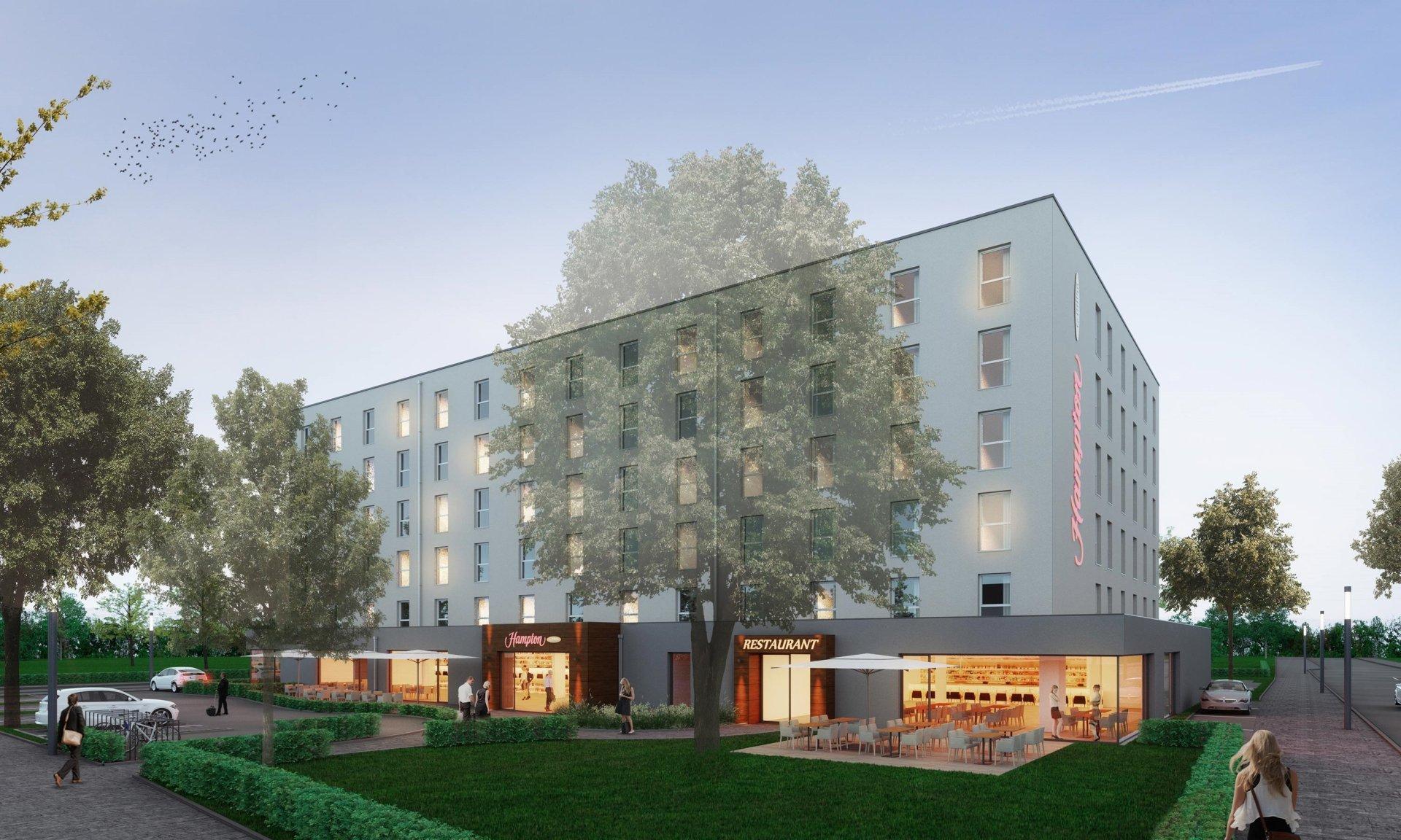 hampton by hilton kommt nach kaiserslautern hotelbau. Black Bedroom Furniture Sets. Home Design Ideas