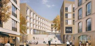 Rendering des niu in Potsdam. Bild: Wolff Architekten
