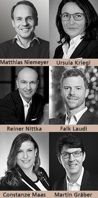 Matthias Niemeyer, Ursula Kriegl, Reiner Nittka, Falk Laudi, Constanze Maas, Martin Gräber