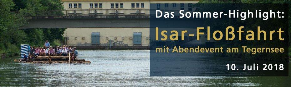 Isar-Floßfahrt mit Ausklang am Tegernsee