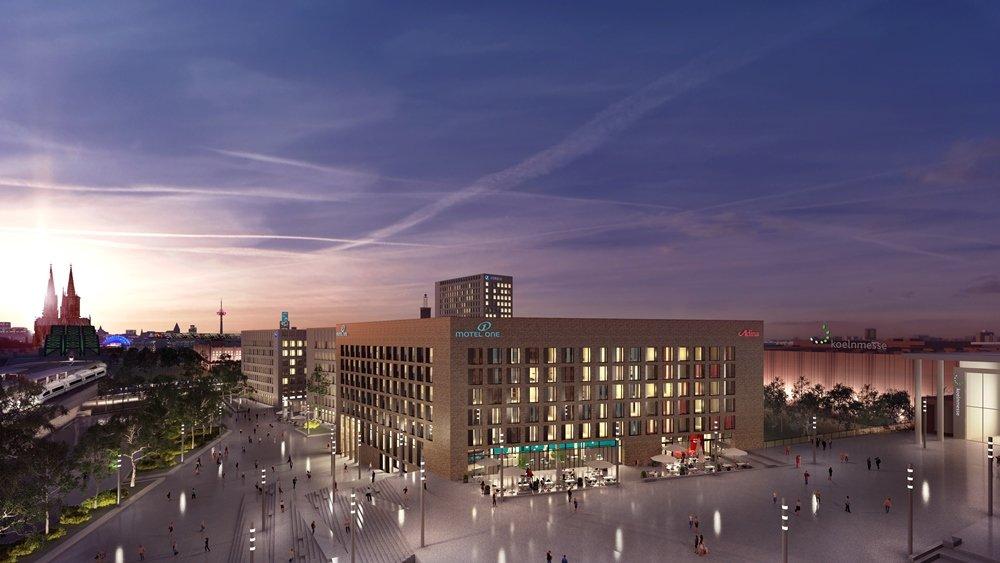 Rendering des Hotelkomplexes neben dem Messegelände in Köln