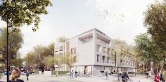 Rendering des stilwerk-Hotels in Travemünde. Bild: Stephen Williams Associates und Spine Architects