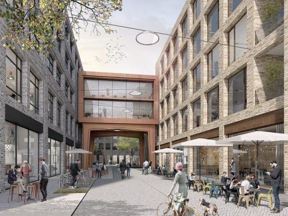 Zwei der Bürogebäude werden miteinander verbunden. Bild: Art-Invest Real Estate, Accumulata Immobilien Development