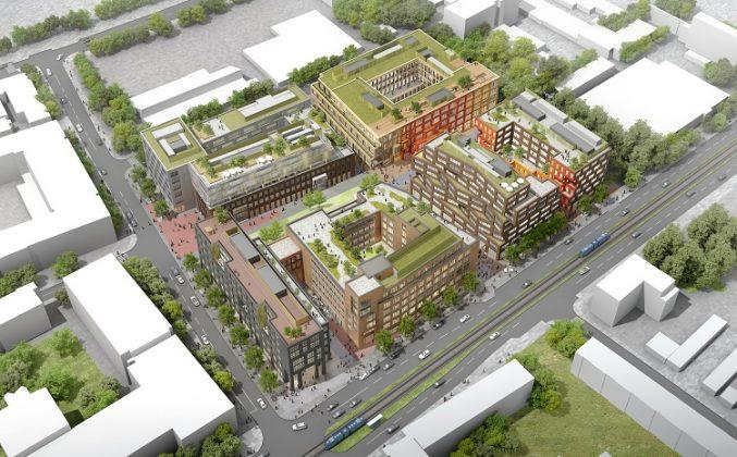 Eine Übersicht der sechs Gebäude auf dem Areal. Bild: Art-Invest Real Estate, Accumulata Immobilien Development