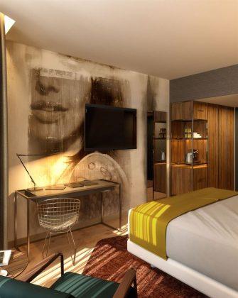 Die Zimmer im vierten haus der Marke sollen industriell und weltoffen wirken. Bild: NH Hotel Group