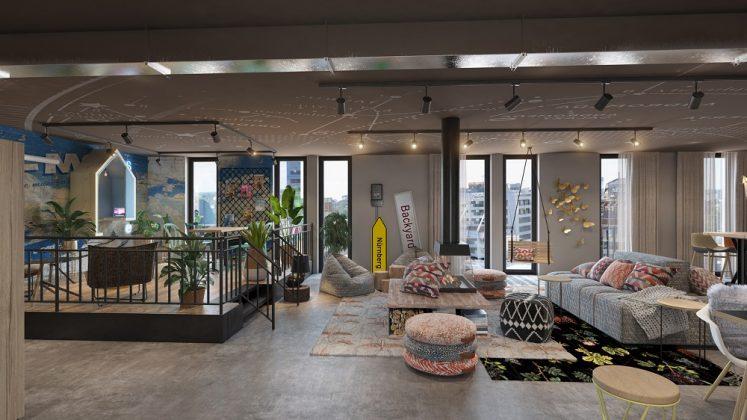 Der öffentliche Bereich im Obergeschoss soll vielseitig genutzt werden können. Bild: SV Hotel AG