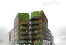 Rendering des Hotel am Dom in Hamburg, in das das vierte Premier Inn einziehen wird.