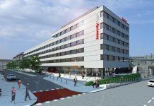 Visualisierung des IntercityHotel Graz.