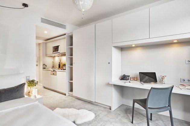 Alle 105 Apartments sind mit einer kleinen Küche ausgestattet. Bild: H-Hotels.com