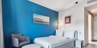 Ein Business Doppelzimmer im neu eröffneten H.omes Serviced Apartments München. Bild: H-Hotels.com