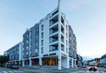 Übereck-Ansicht auf das Ibis Styles Hotel Stuttgart. Bild: Success Hotel Group