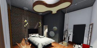 Rendering eines Einzelzimmers im Loftstyle-Hotel Hannover. Bild: Loftstyle
