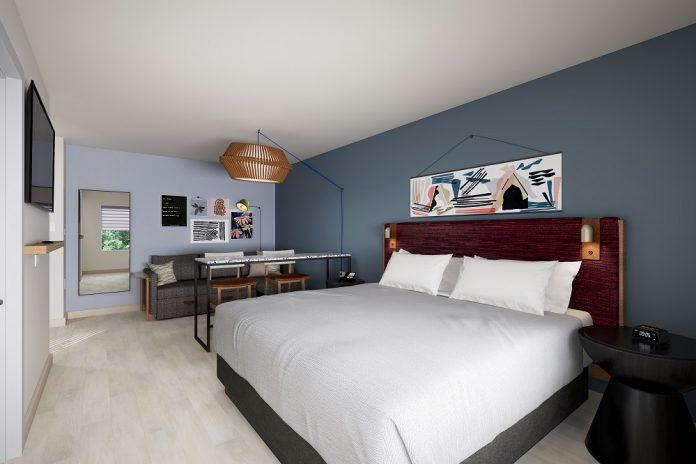 Rendering eines Hotelzimmers der neuen Marke. Bild: IHG