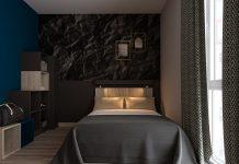Visualisierung eines Zimmers im Bentō Inn Munich Messe. Bild: Gorgeous Smiling Hotels