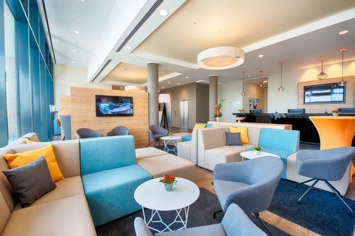 Lobby im Loginn Leipzig. Bild: Achat Hotels Deutschland