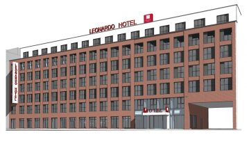 Rendering Leonardo Hotel Hamburg-Altona. Bild: HWS Immobilien GmbH
