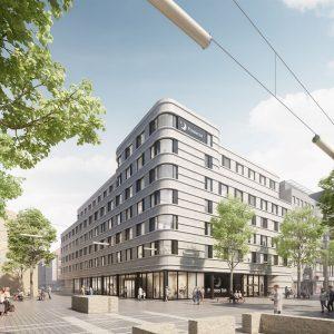 Rendering des Premier Inn City Mannheim. Bild: Architekturbüro Reichel + Stauth GmbH