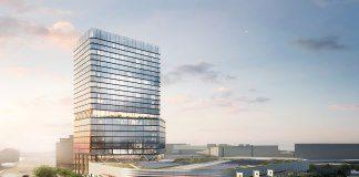 Rendering des Porsche Design Towers Stuttgart. Bild: Radisson Hotel Group