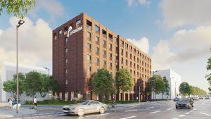 Rendering des Prizeotel Wiesbaden-City. Bild: grabowski.spork GmbH/Sicknifikant