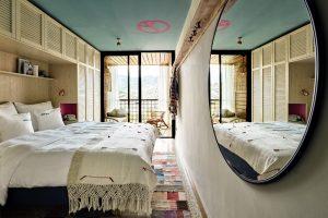 Zimmer im Bikini Island & Mountain Hotel auf Mallorca. Bild: Design Hotels