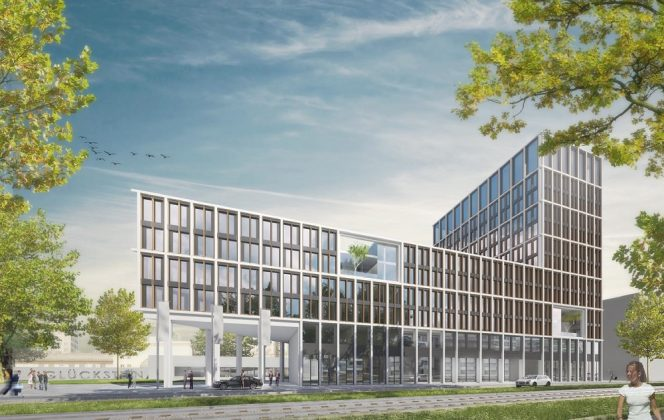 Rendering des Holiday Inn Mannheim City – Hauptbahnhof. Bild: Gorgeous Smiling Hotels GmbH