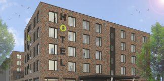 Rendering des Me and All Kiel. Bild: A. Wellander/Me and All Hotels