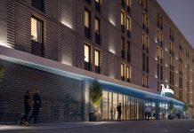 So soll die Fassade des Radisson Hotel Leipzig aussehen. Bild: Fay Projects