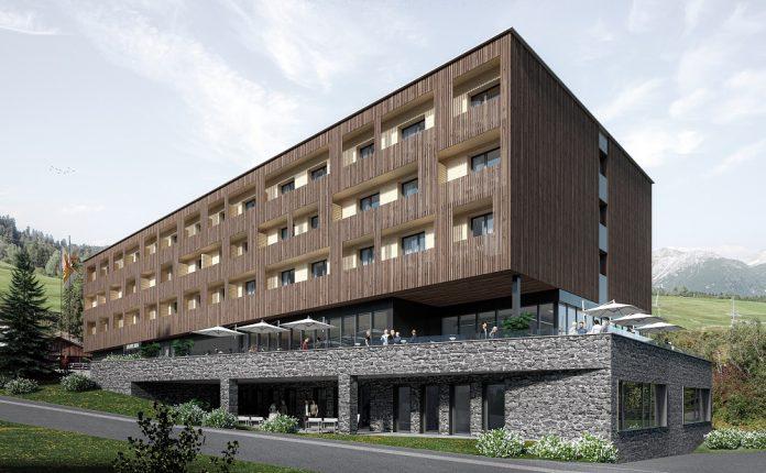 Außenansicht des künftigen 4-Sterne-Hauses in Savognin. Bild: fotoSwiss.com/cattaneo