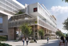 "Rendering des Mixed-Use-Komplexes ""Das RAIQA"" in Innsbruck, in den ein Radisson Red einziehen wird. Bild: Chronic-Pictures"