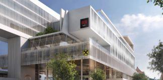 """Rendering des Mixed-Use-Komplexes """"Das RAIQA"""" in Innsbruck, in den ein Radisson Red einziehen wird. Bild: Chronic-Pictures"""