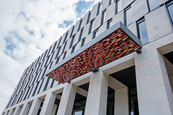 Außenansicht des neuen Steigenberger Airport Hotel Berlin. Bild: Steigenberger Hotels AG