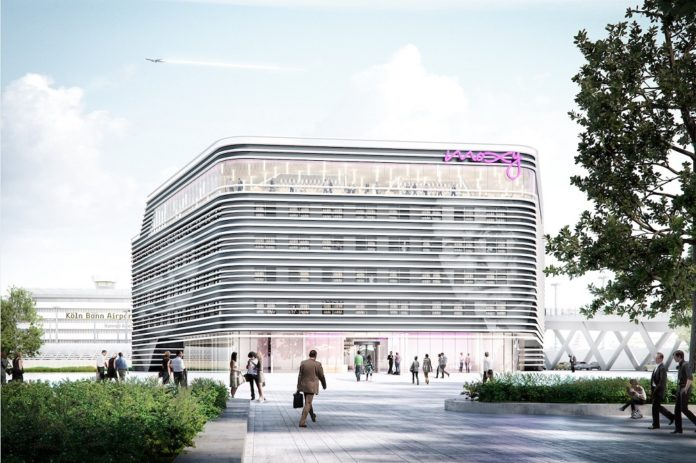 Visualisierung Moxy Köln Bonn Airport. Bild: Art-Invest Real Estate