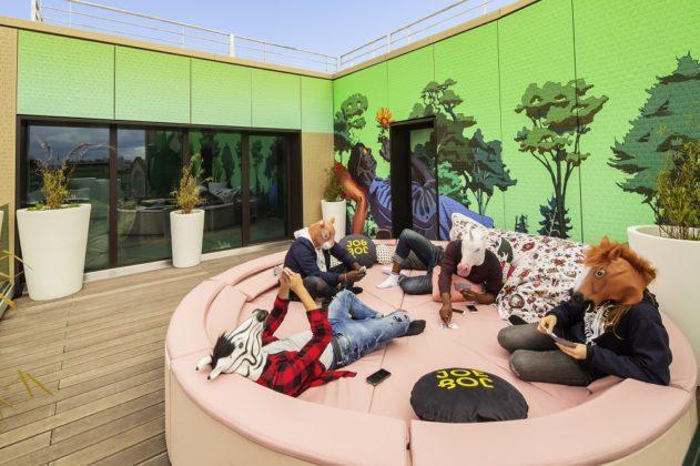 Gemeinschaftsflächen gehören zum Konzept der Marke Jo&Joe. Bild: Abaca Press/T. Sauvage