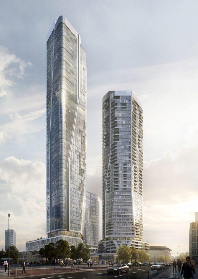 In den Türmen entstehen Flächen für Hotels, Wohnungen und Büros – auch Serviced Apartments finden ihren Platz. Bild: Groß & Partner.