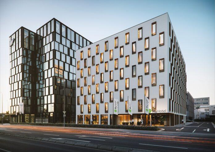 Rendering des H+ Hotel Eschborn. Bild: Eve Images