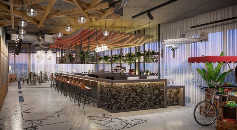 Rendering der Bar. Bild: AI MXY Hotel Operations